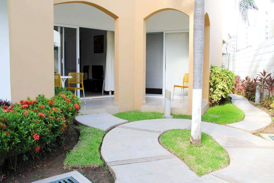 Private patio area.