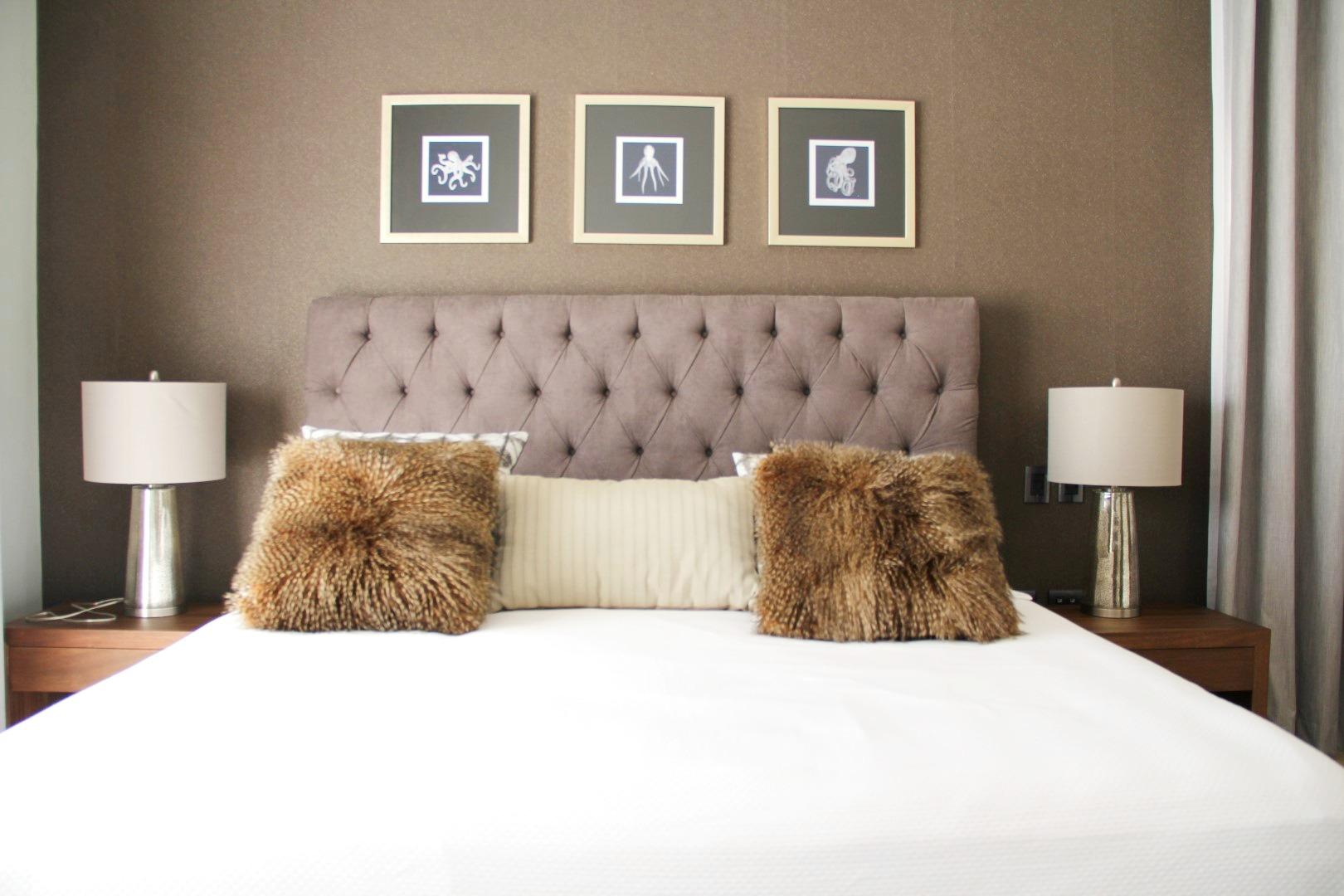King bed in master bedroom..