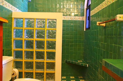 Ensuite with original tile.