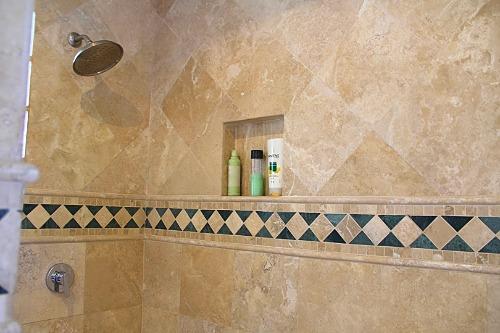 Master shower.