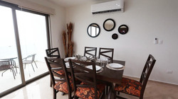 Dining table with seating for 6 people.