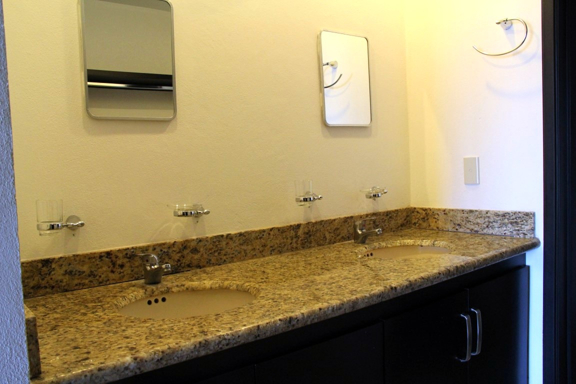 Double vanity in master bathroom.
