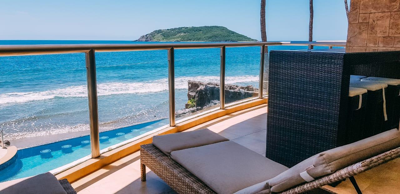 Beautiful ocean views from private terrace.