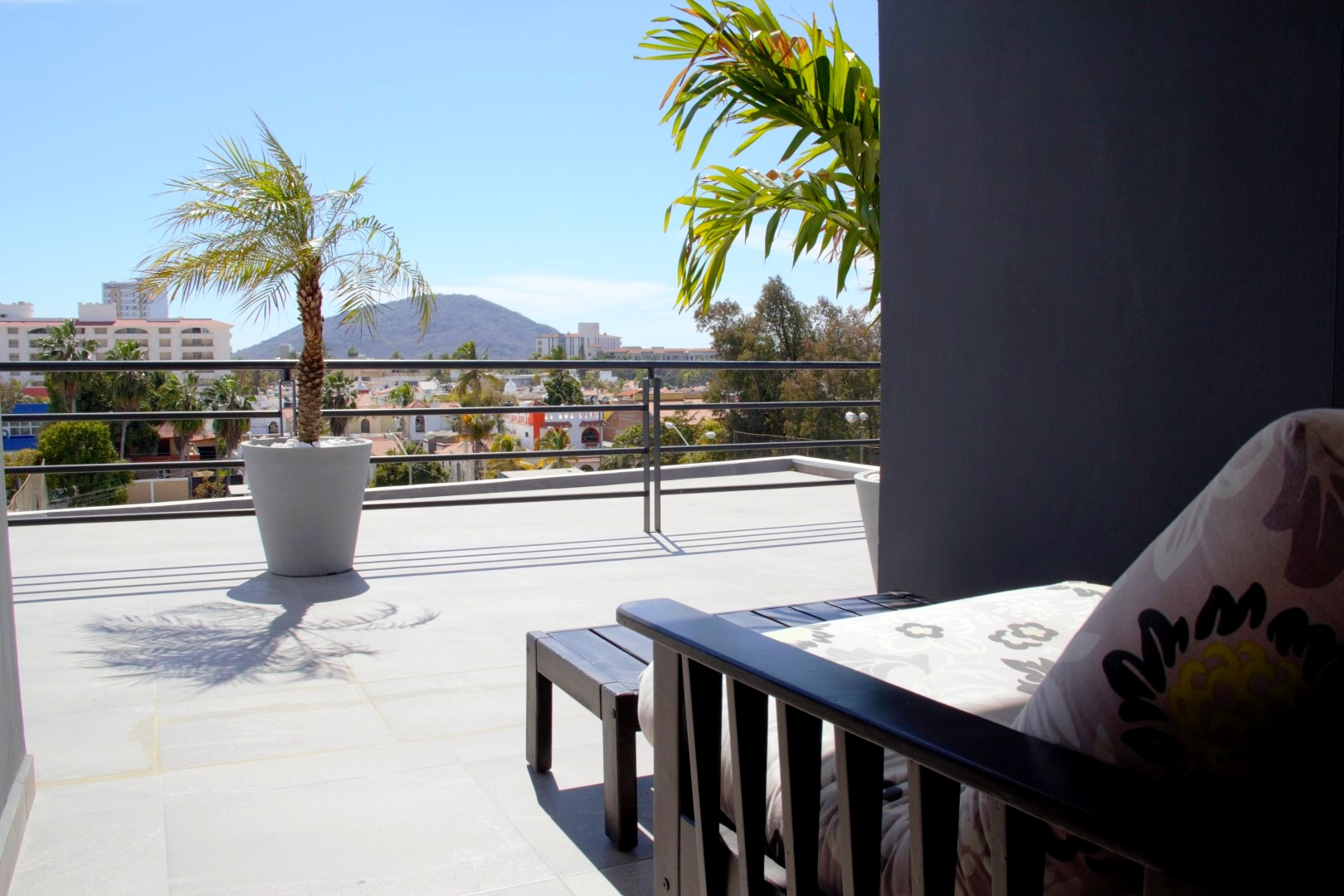 View from shared roof-top terrace_