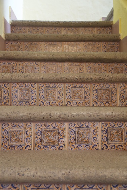 Mexican tile staircase to 2nd level