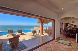 Large open spaces in indoor/outdoor living.