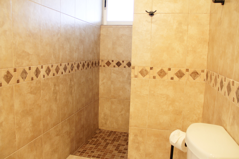 Walk-in shower.