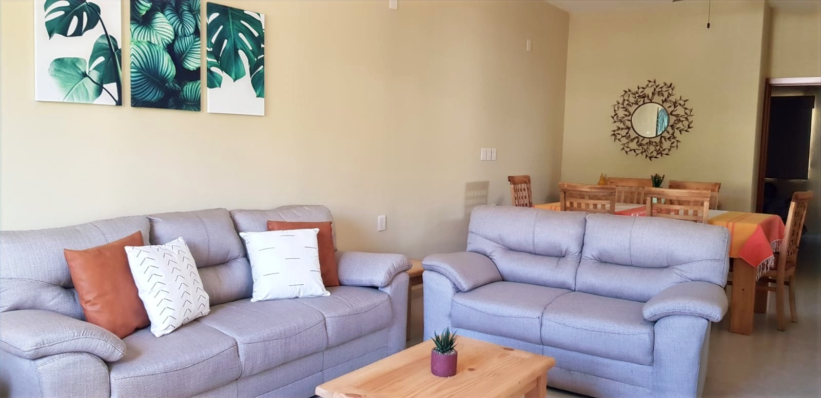 Brand new, comfortable furniture.