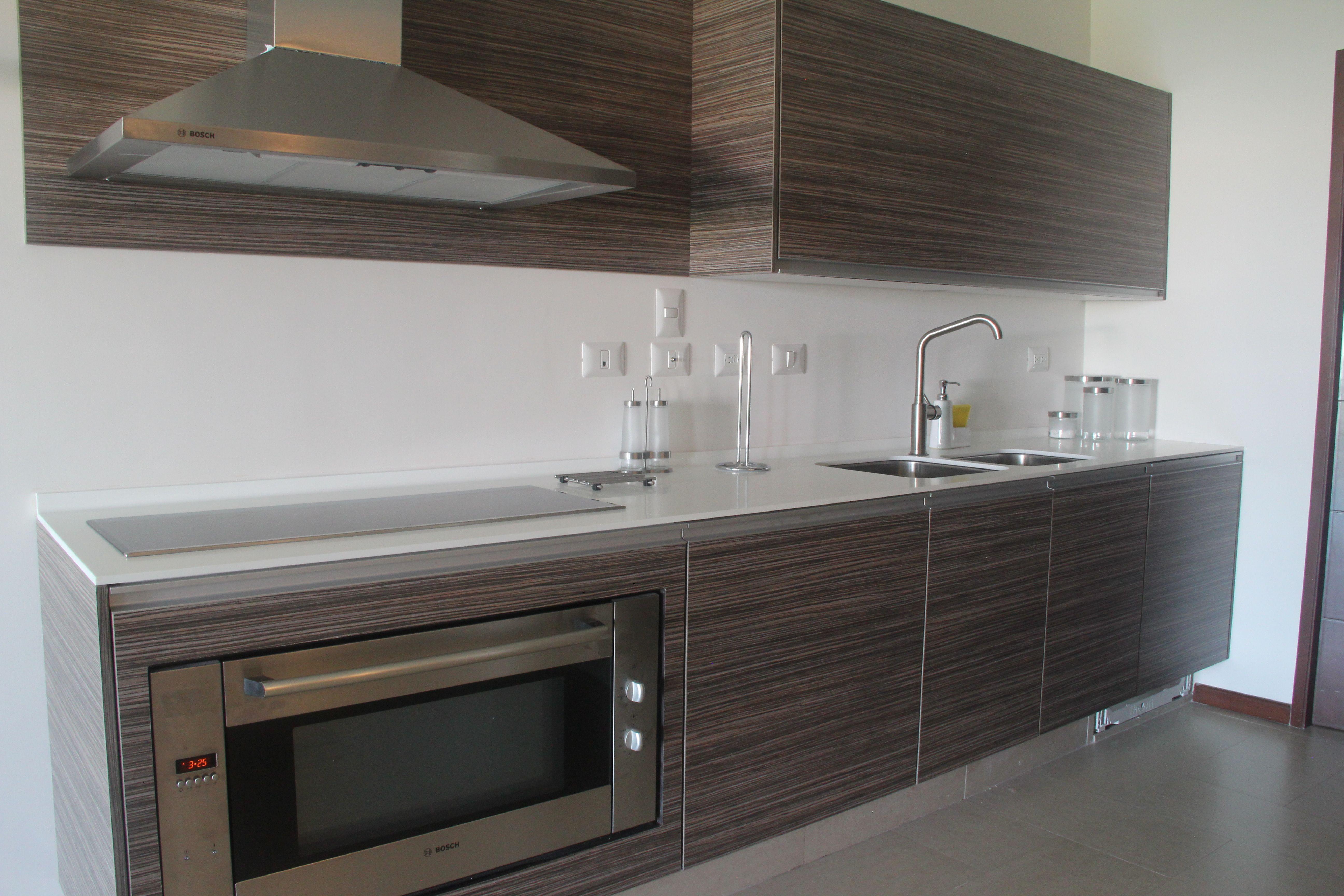 Modern galley kitchen.