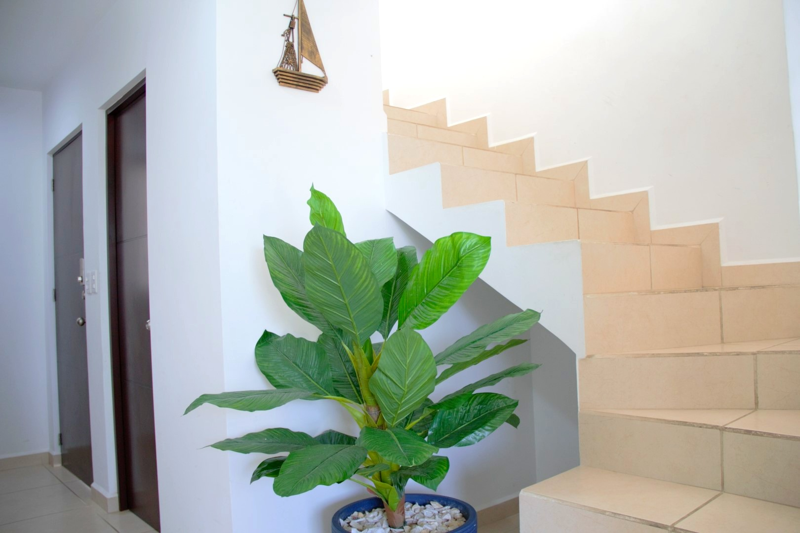 Stairs to second level.
