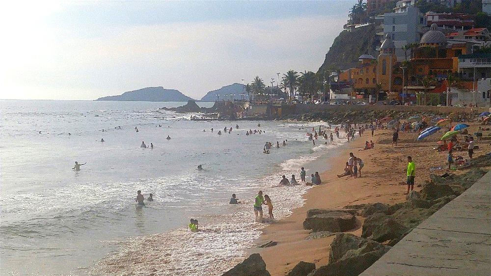 Swimming at Olas Altas.