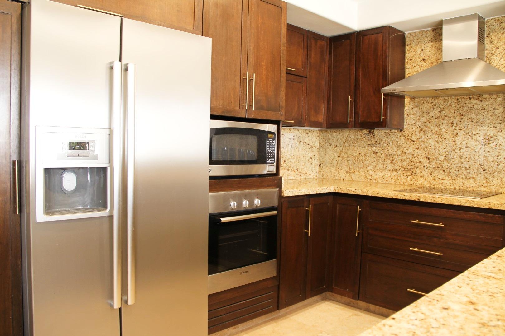 Modern kitchen appliances.
