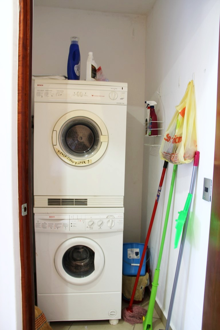 Ensuite laundry, washer and dryer.