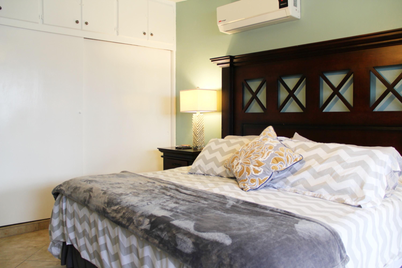 Closet space in master bedroom.
