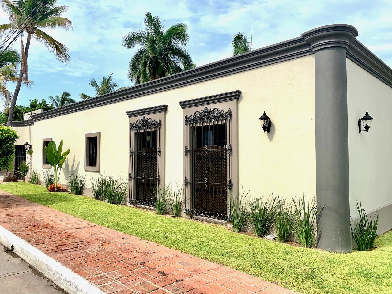 Exterior of hacienda, living room side.