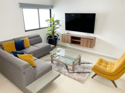 Bright, spacious living room.