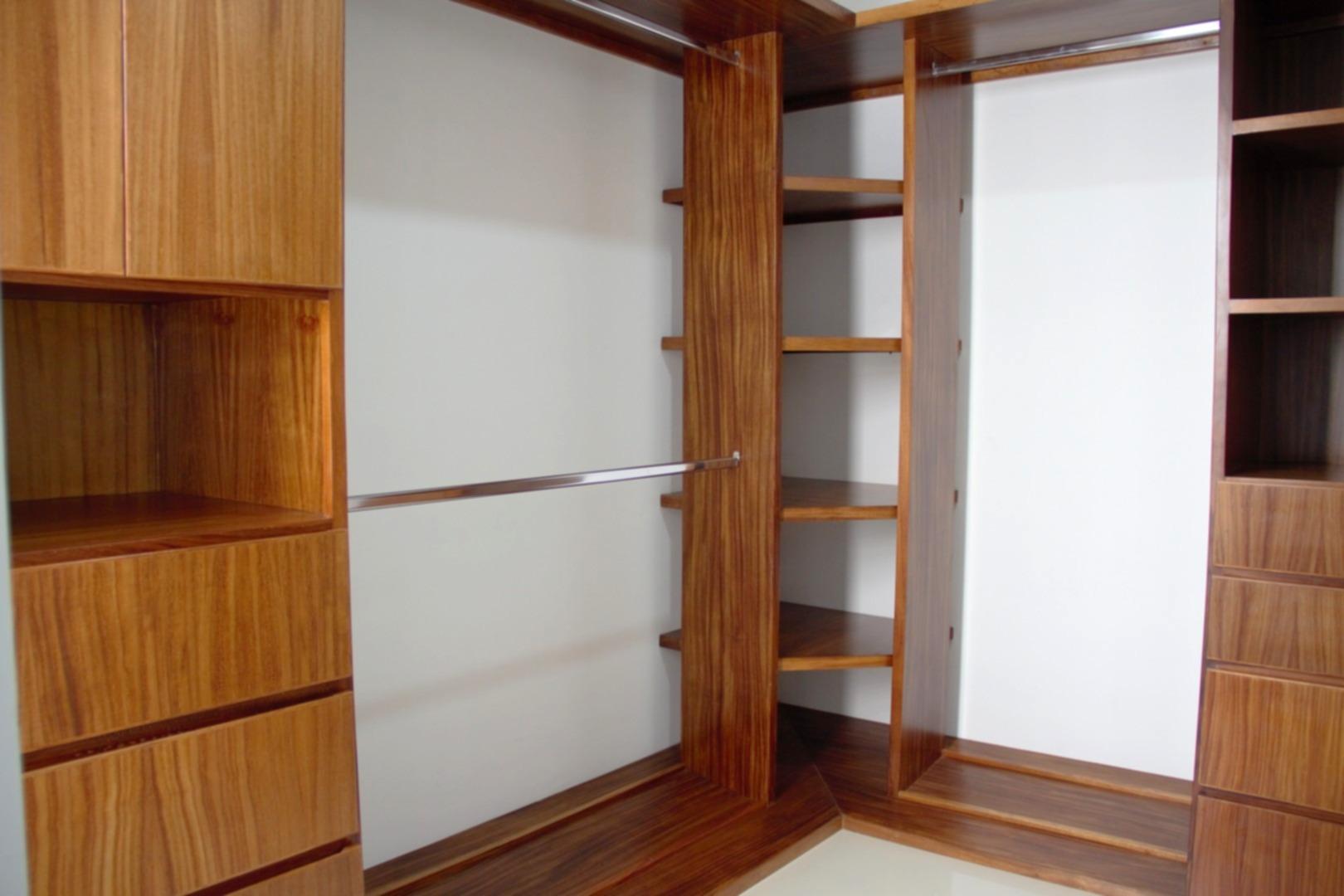 Large walk-through closet.