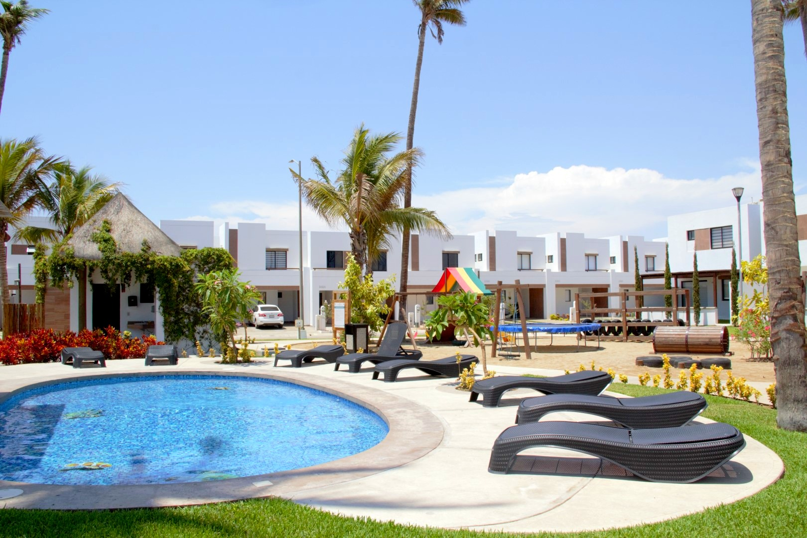 Palmilla pool and loungers.
