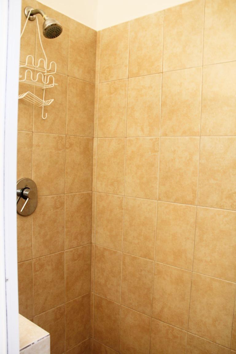 Large tiled shower in ensuite.