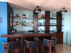 Bar area with seating.