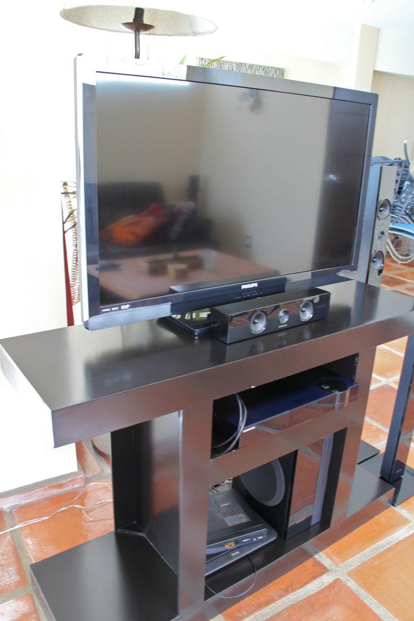 TV with satellite & surround sound.