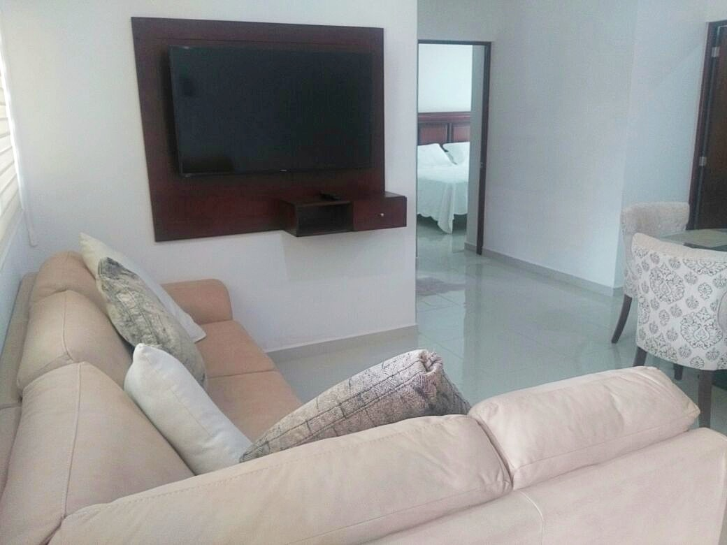 Sectional sofa with Smart TV