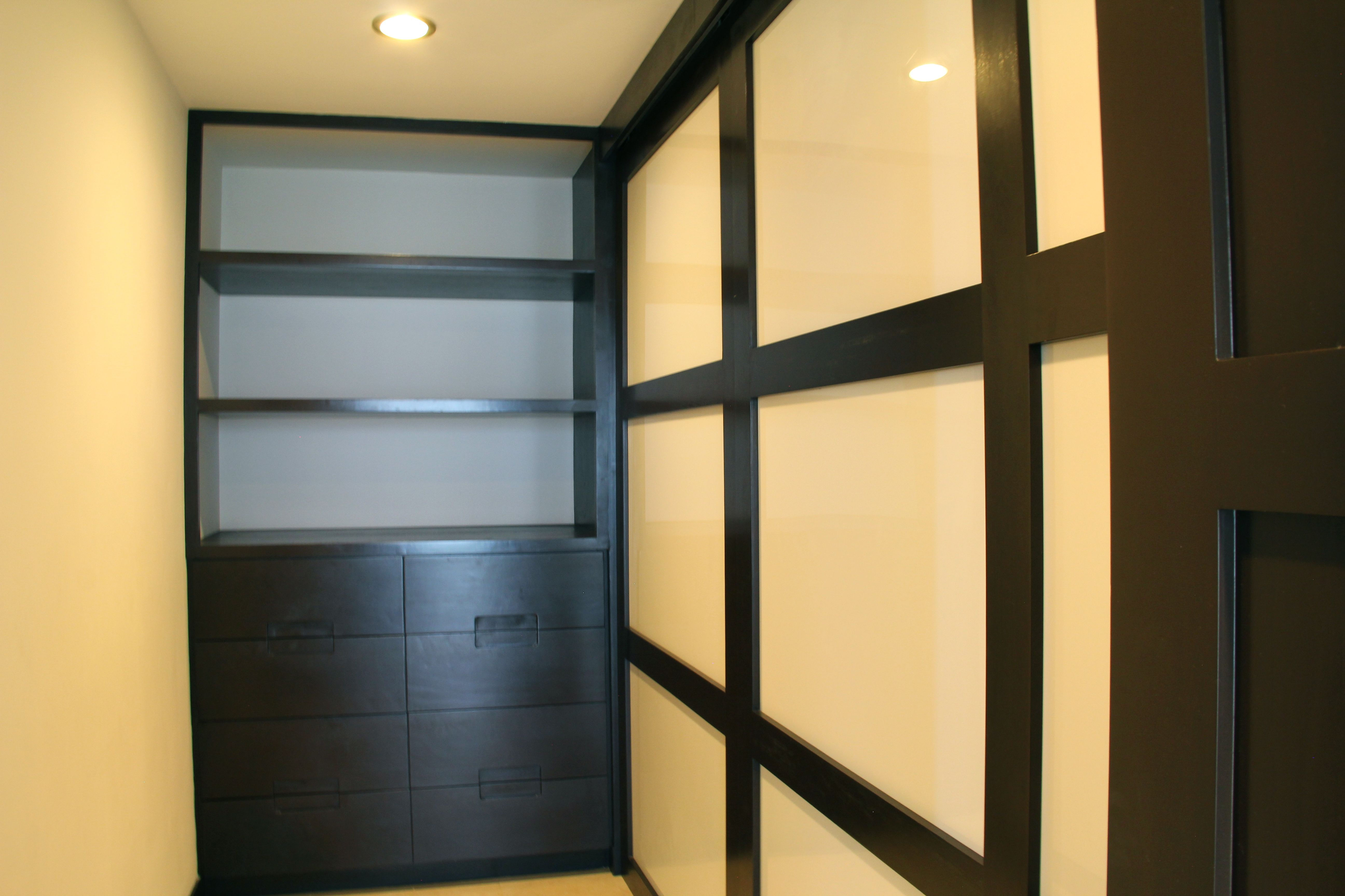 Large walk-in master closet.