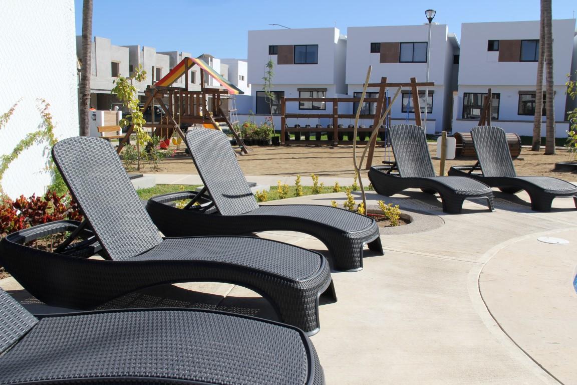 Lounge chairs.