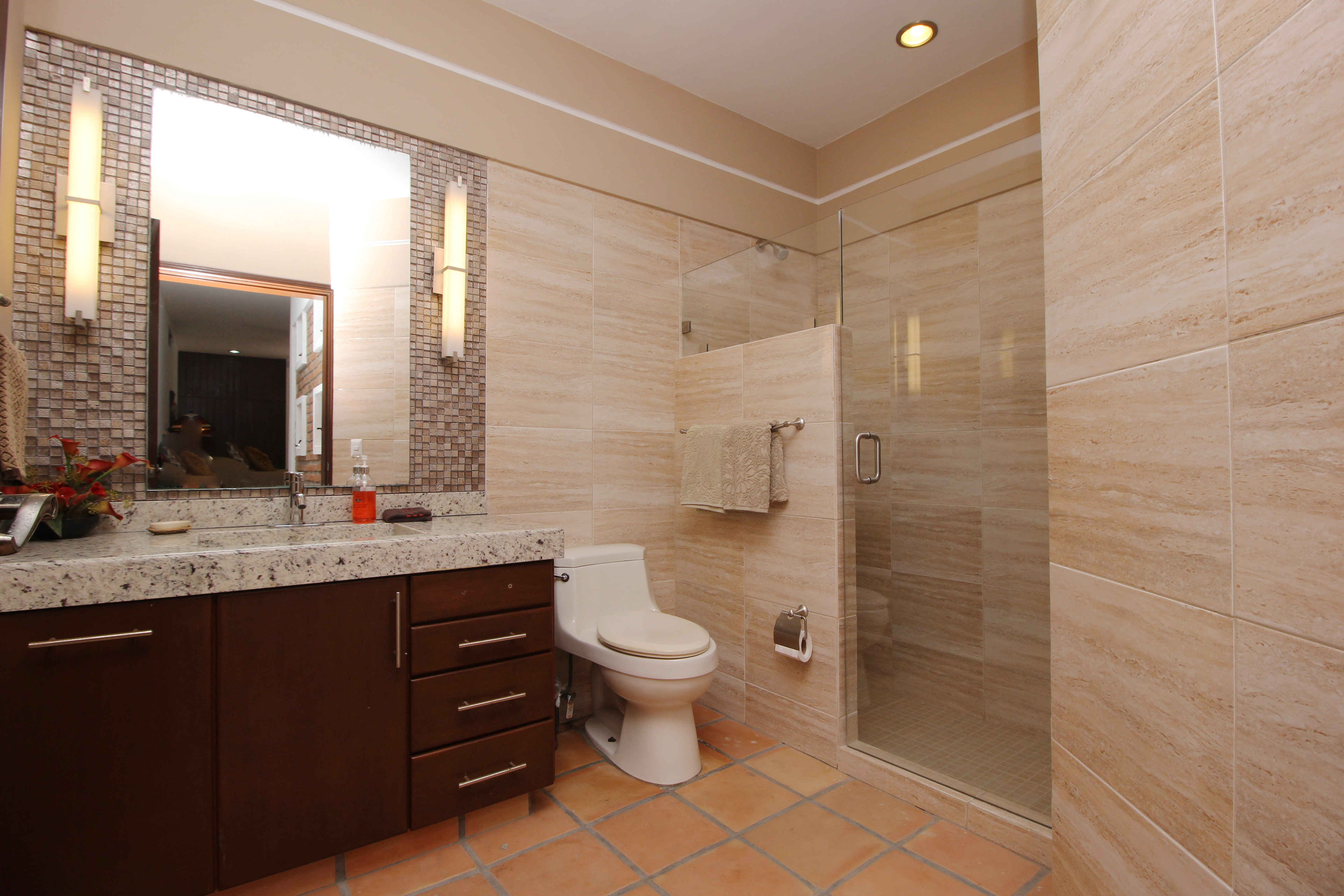 Ensuite with shower.