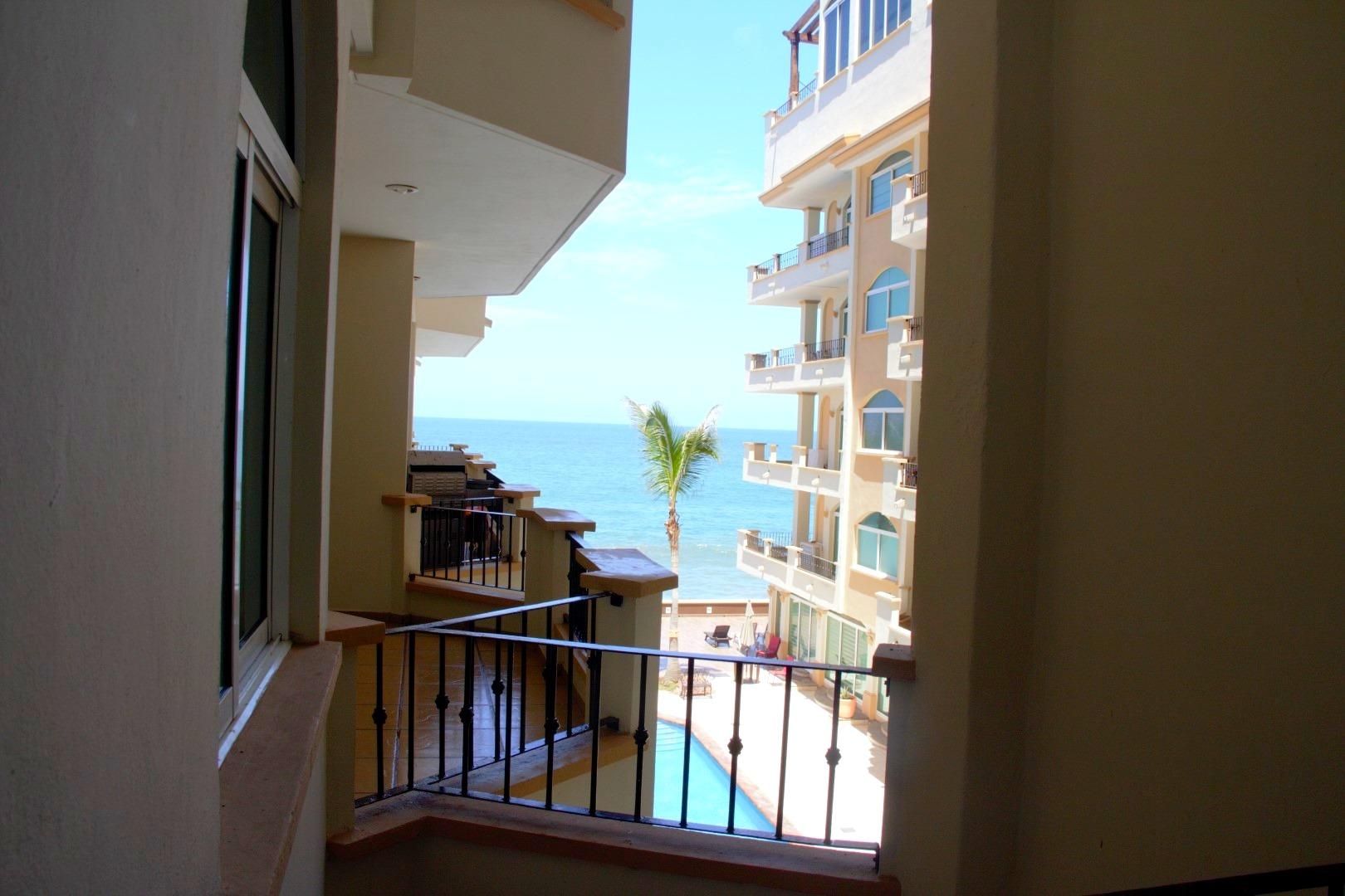 Partial ocean views from master bedroom.