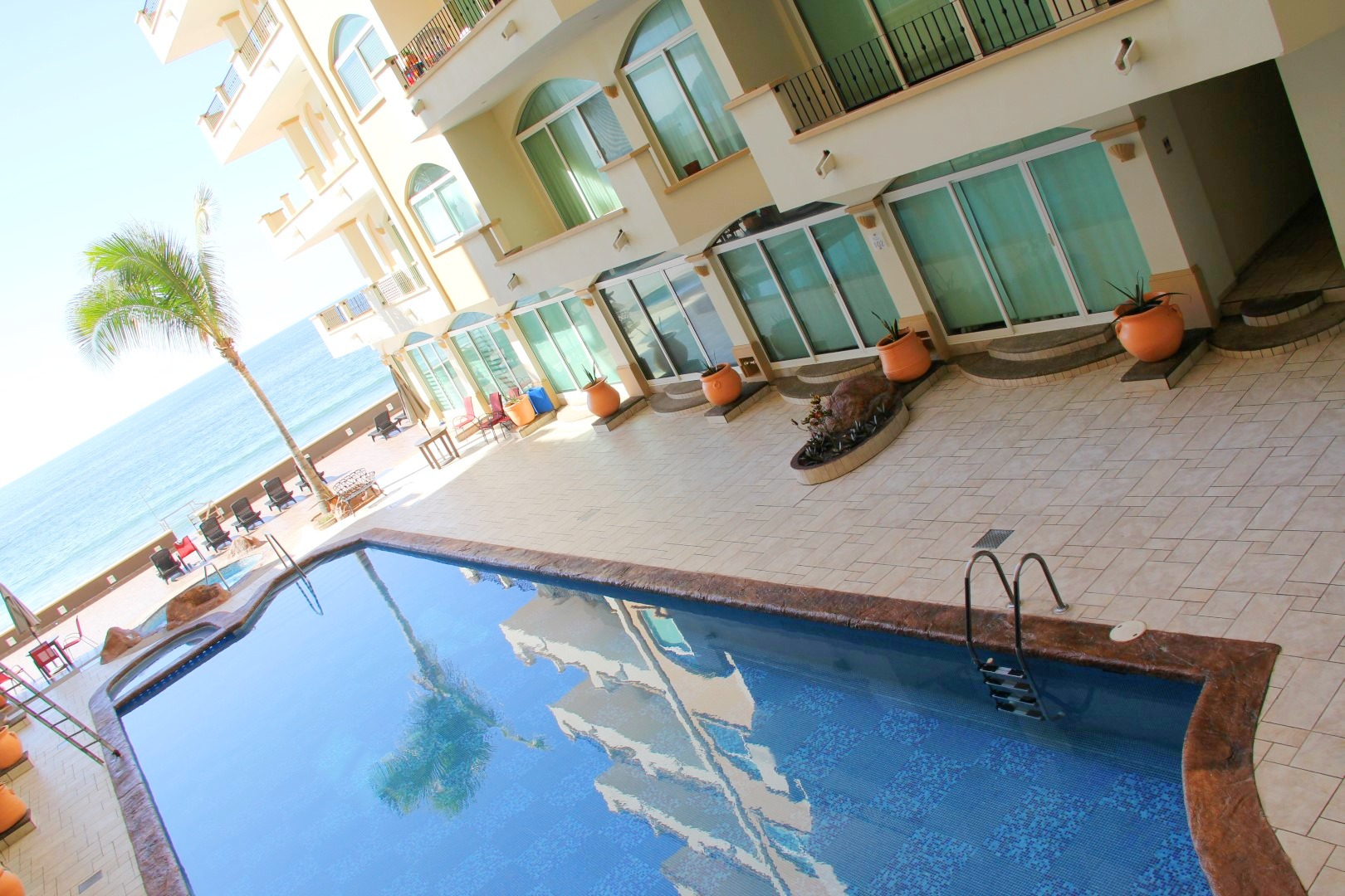 Pool and ocean views from Tiara Sands 208