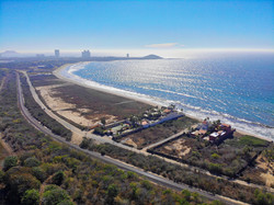 Aerial view of location on Playa Delfin.