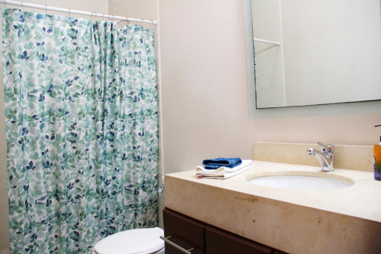 Large second bathroom with shower.