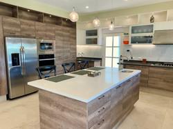 High-end appliances including dishwasher.