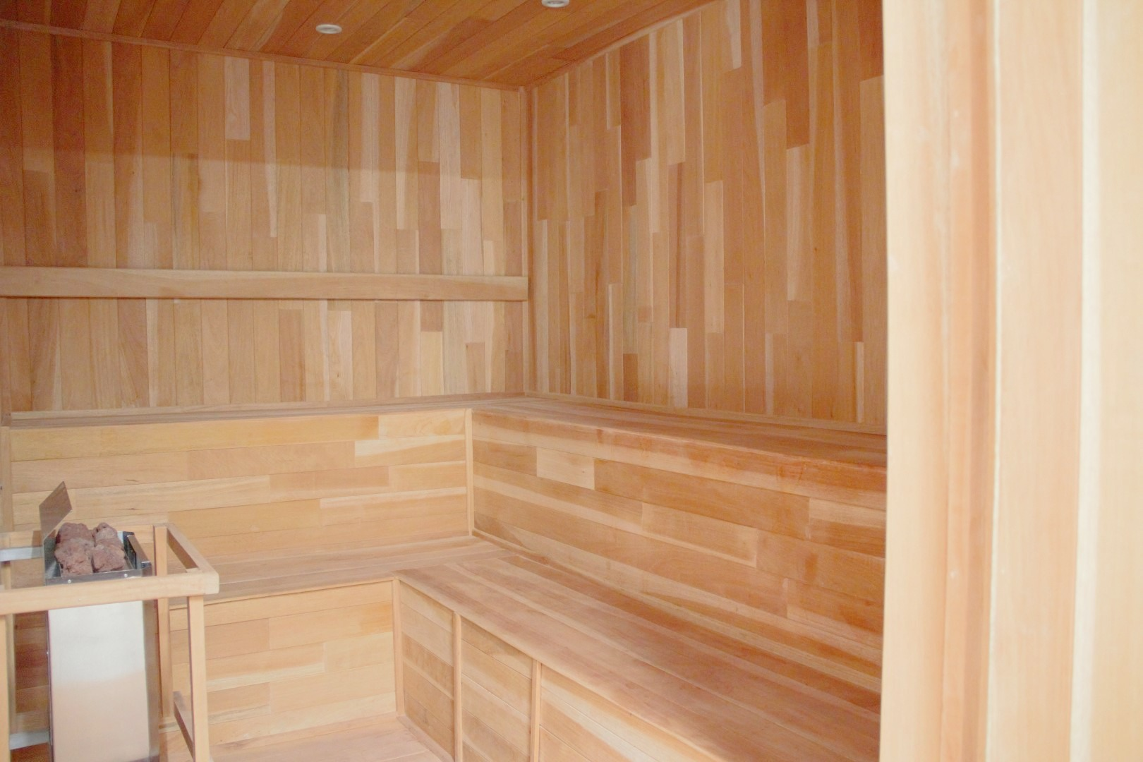 Sauna in spa.