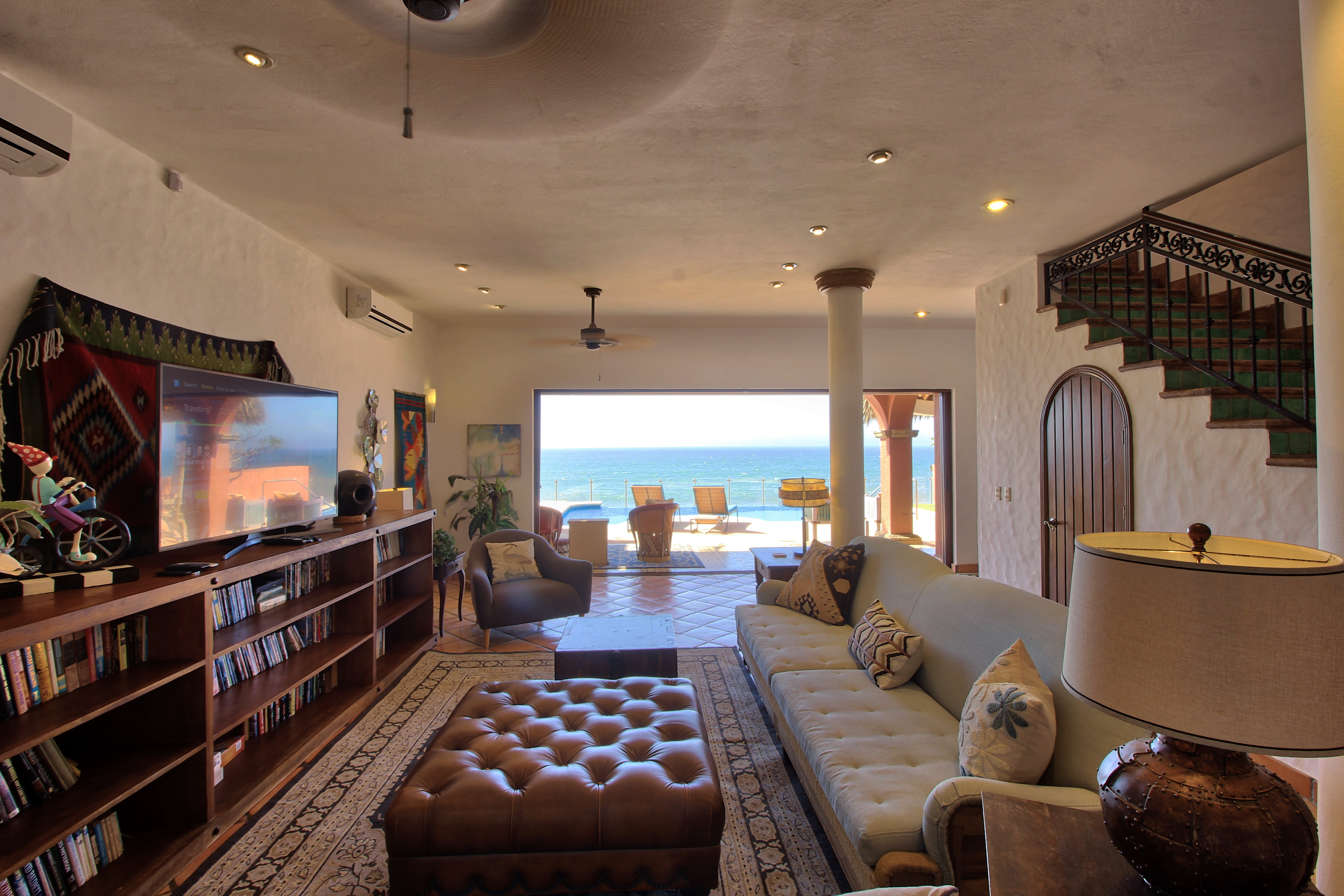Living room with spectacular views.