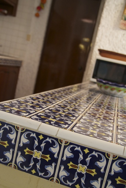 Mexican tiled counter-tops