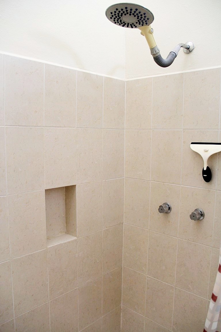 Large shower in second bathroom.