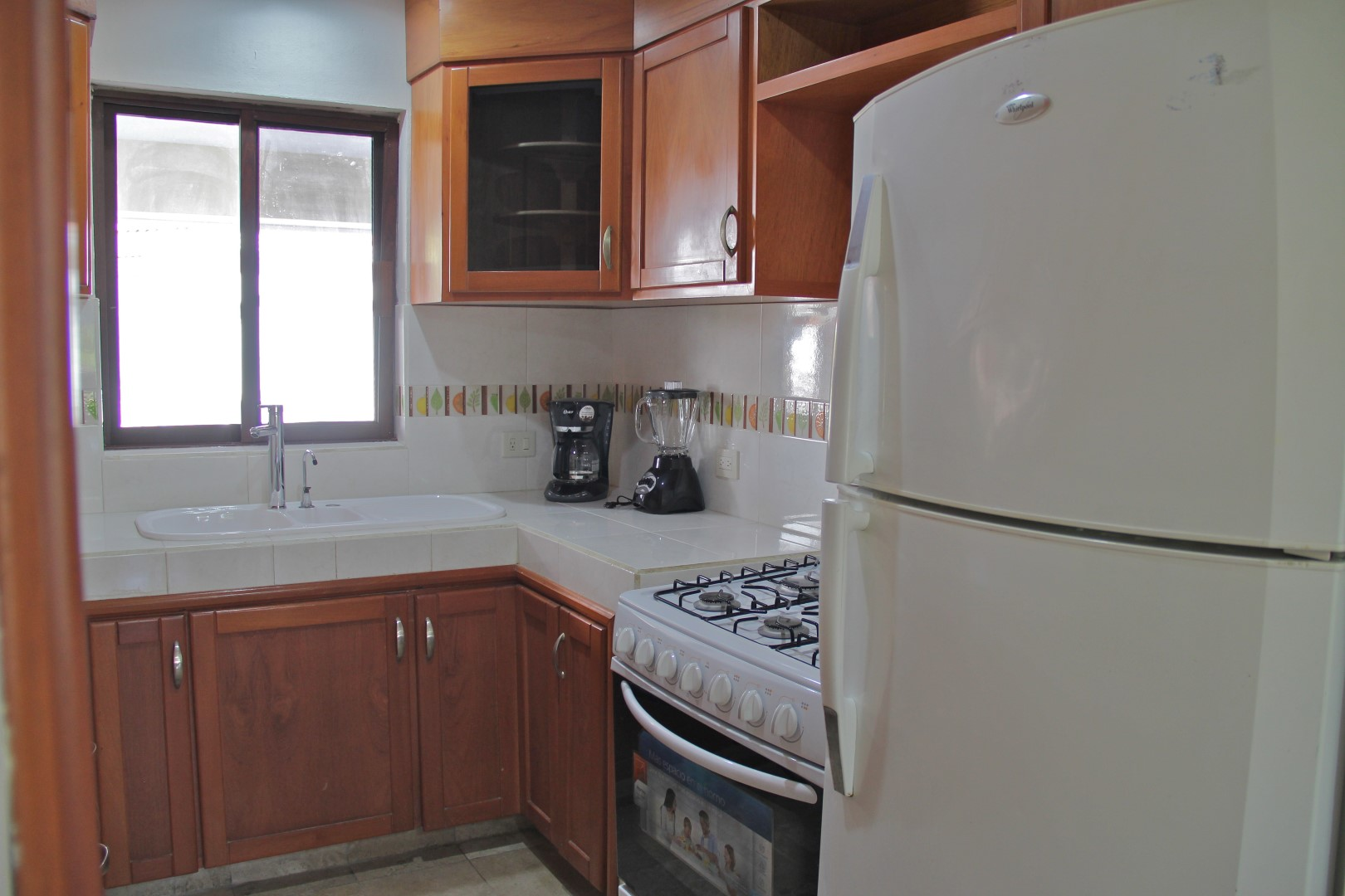 Full kitchen with window