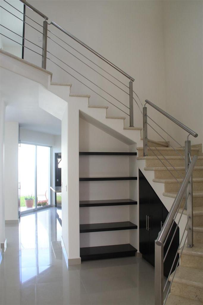 Staircase to second level.