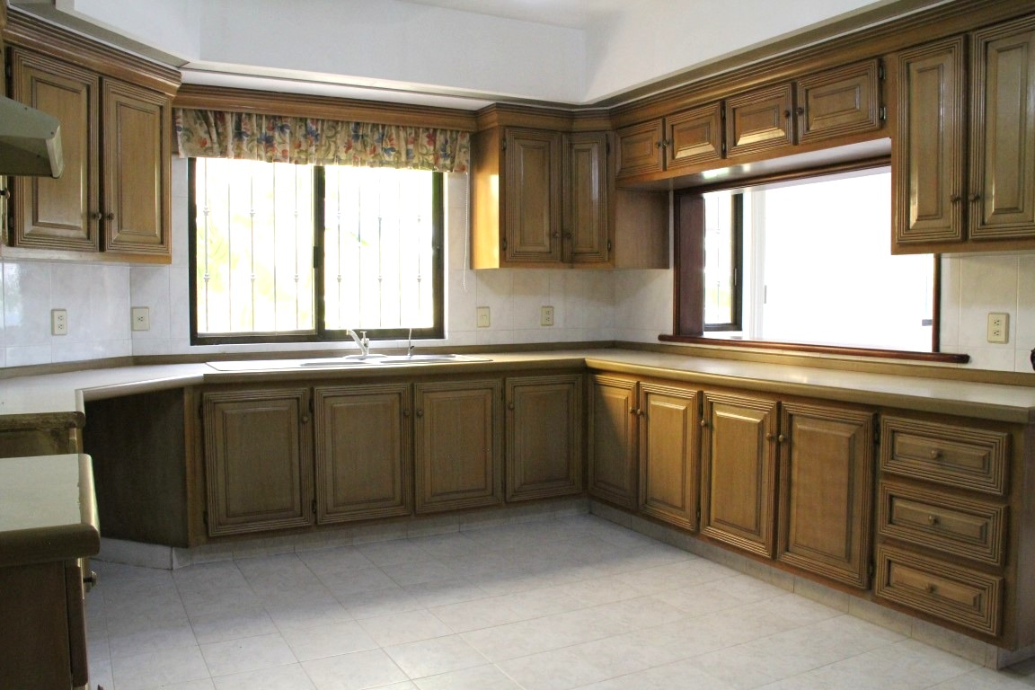 Large kitchen with lots of storage.