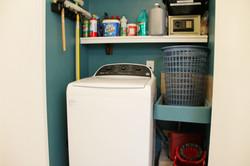 Full-sized washing machine.