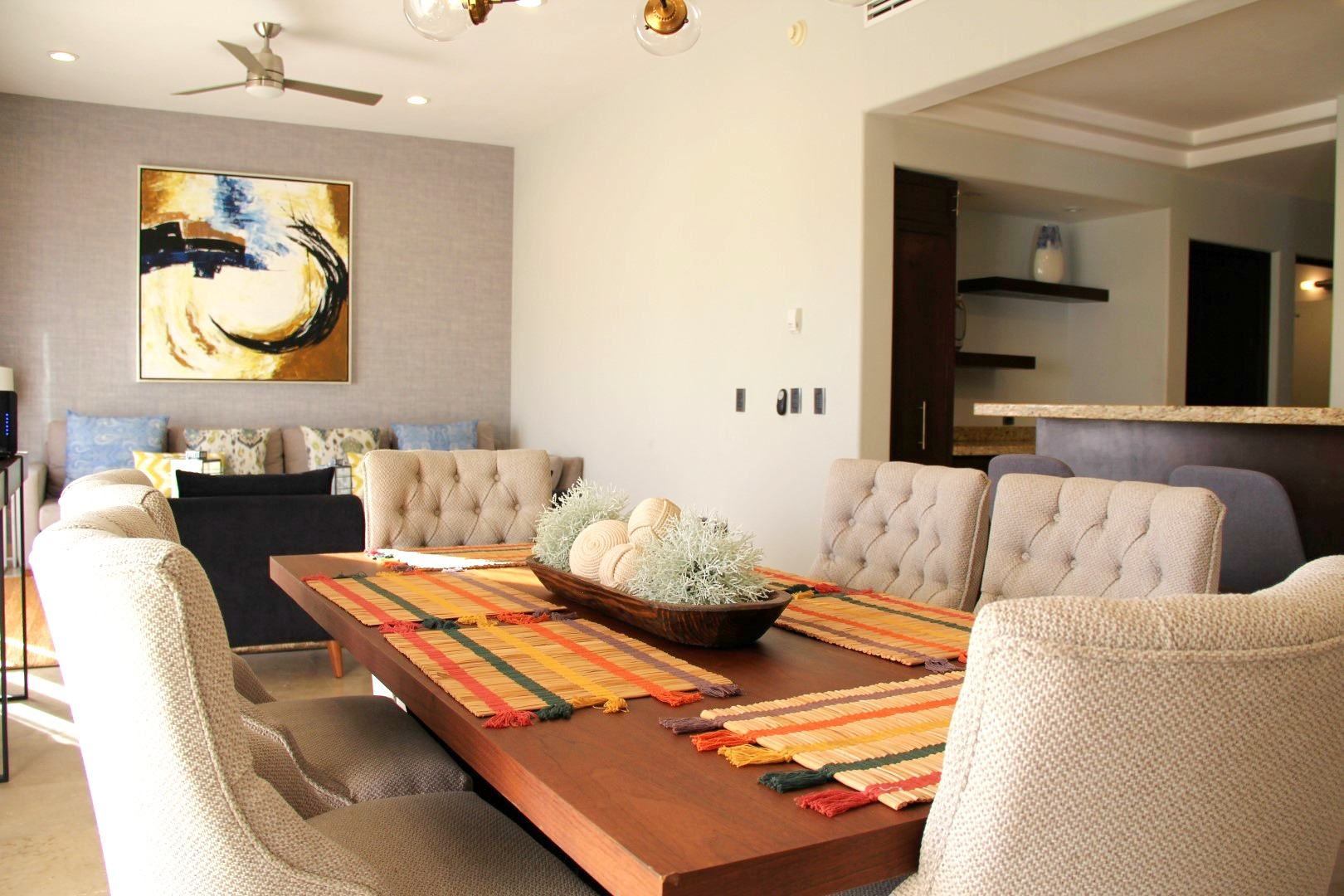 Open living spaces.