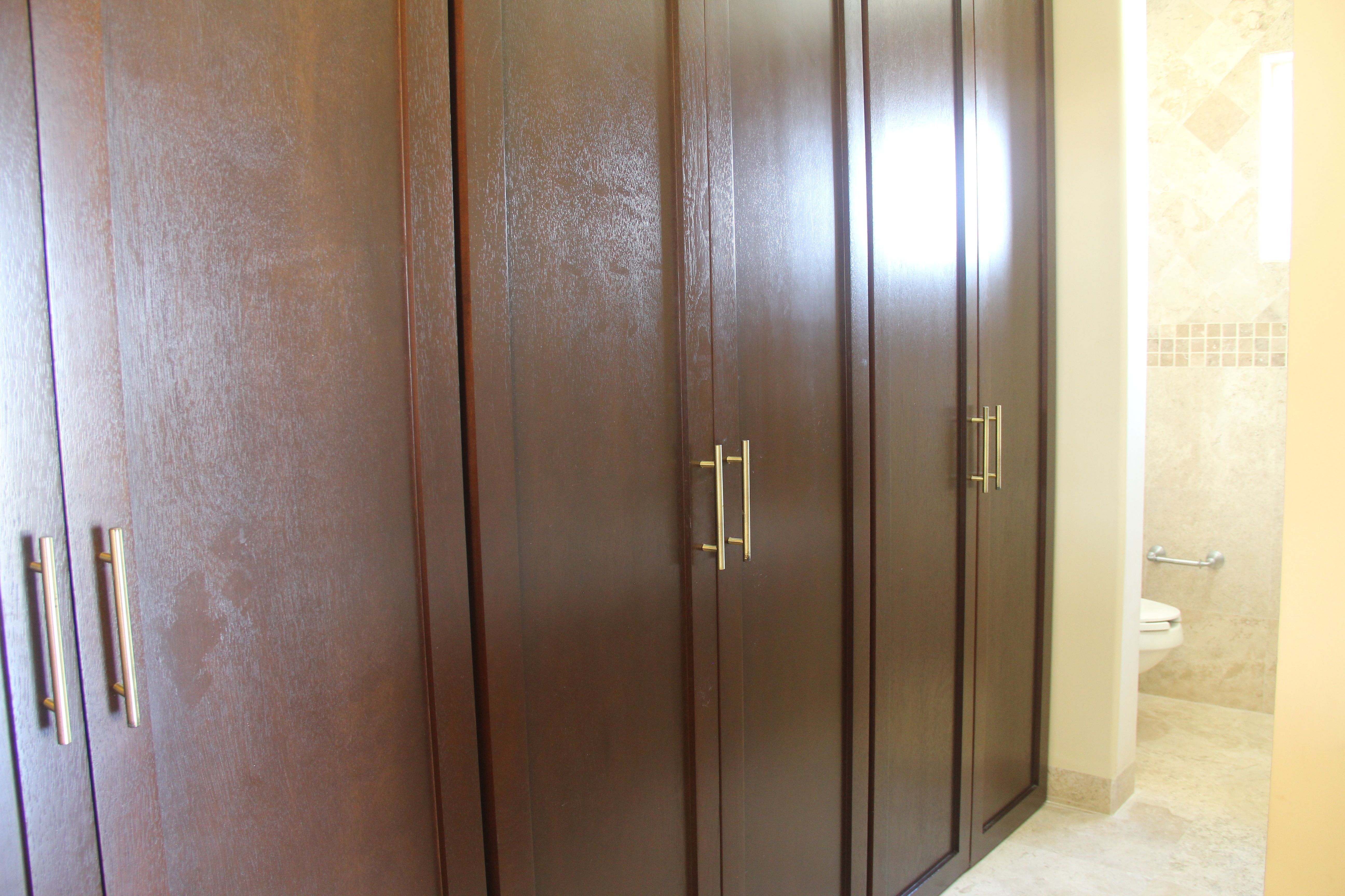 Large closets in each bedroom.