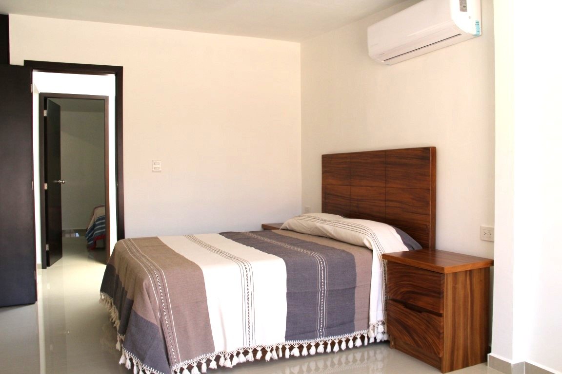 Master bedroom with new A/C.
