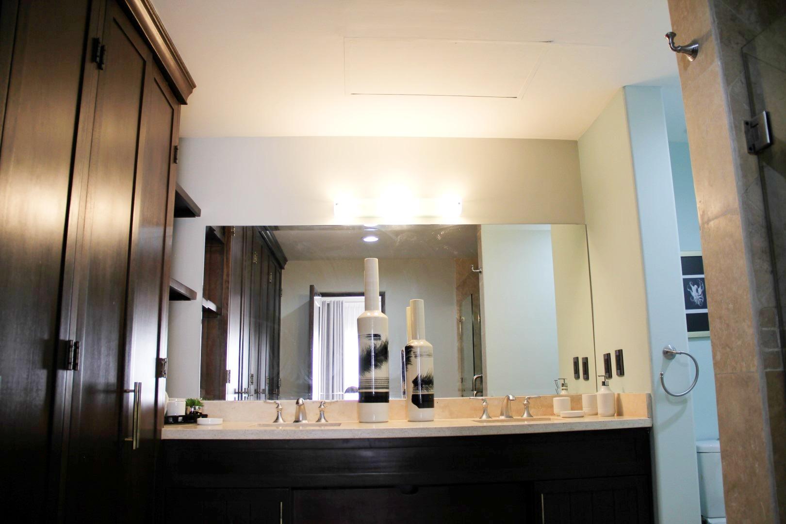 Master bathroom and closet.