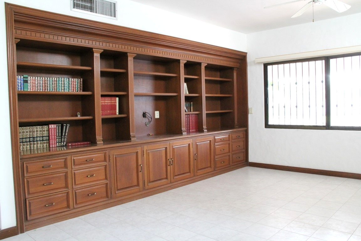 Large built-in storage in master.