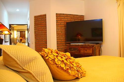 TV in guest bedroom.