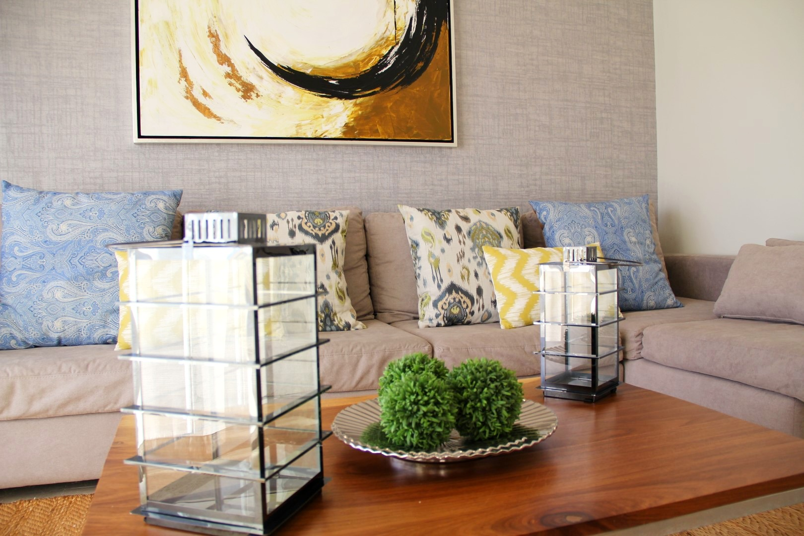 Professionally decorated spaces.