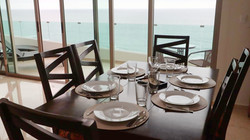 Ocean views from the dining area.